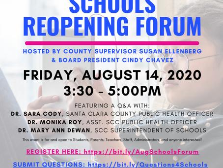 Schools Reopening Forum