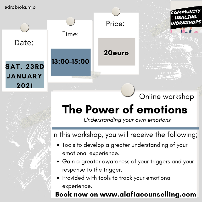 The Power of Emotions  (23rd Jan)
