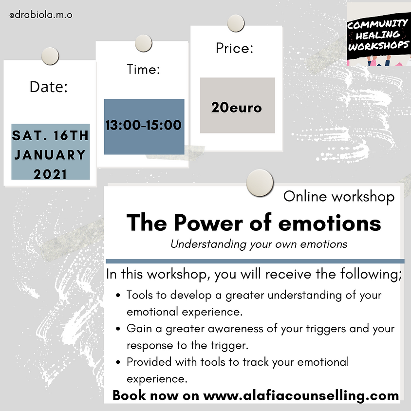 The Power of Emotions (16th Jan)