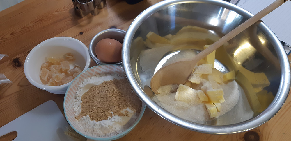 Gluten free ginger pudding ingredients