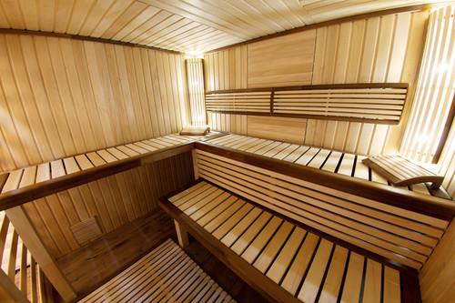 Empty sauna