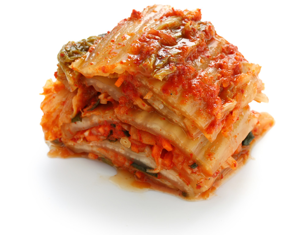 Kimchi, fermented spicy cabbage Korean style