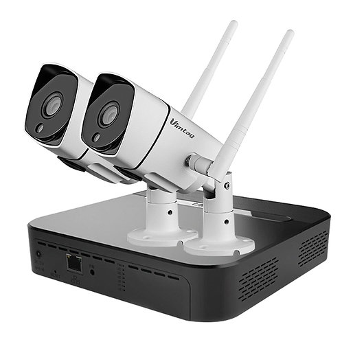 Vimtag Surveillance Outdoor Kit – 2 B3-S Outdoor Camera - 1 Cloud Box Storage S1