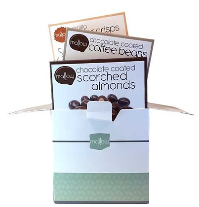 Chocolate Coffee Beans, Scorched Almonds & Vanilla Wafers