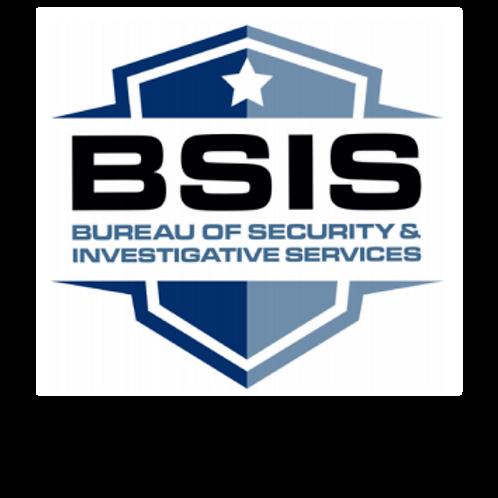INITIAL 8-HOUR BSIS SECURITY GUARD CARD