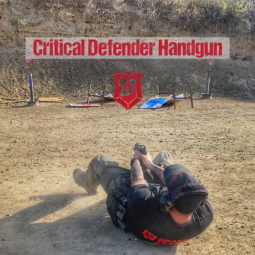 Critical Defender Handgun on 07-11-2021