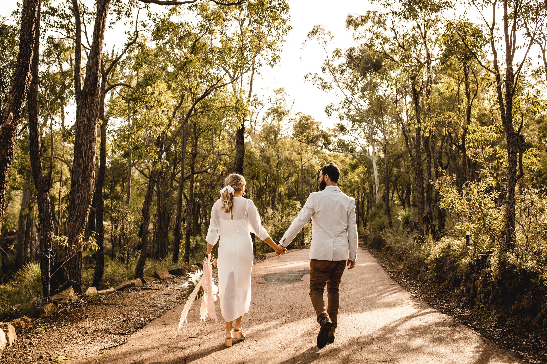 Perth Elopement in Bush Setting Darlingt