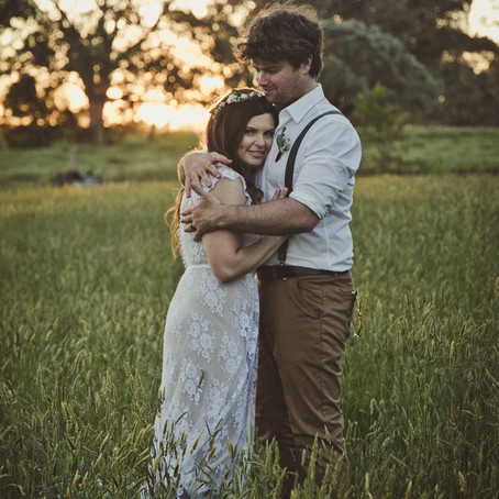 A wedding on a hop farm