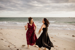 Perth beach intimate wedding by Red Ecle
