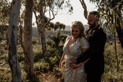 Red Eclectic Small Wedding at Anderson P