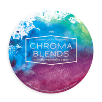 "Chroma blends 10"" circle watercolor paper"
