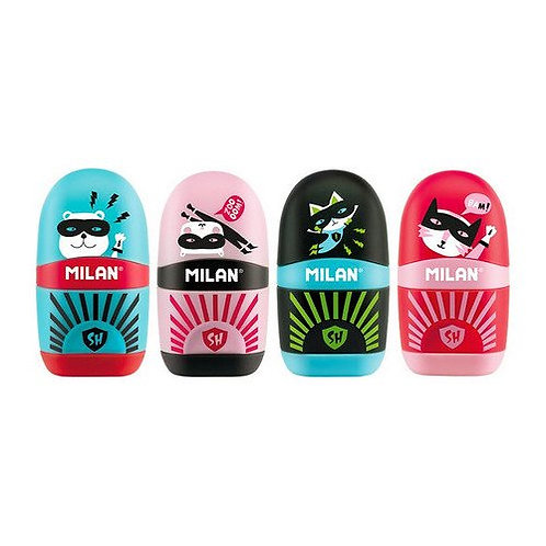 Milan capsule eraser & sharpener