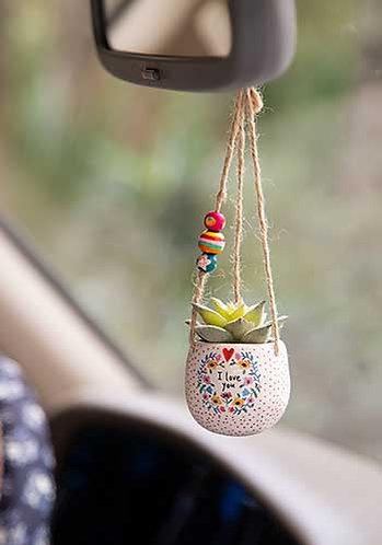 Mini Hanging Faux Succulent