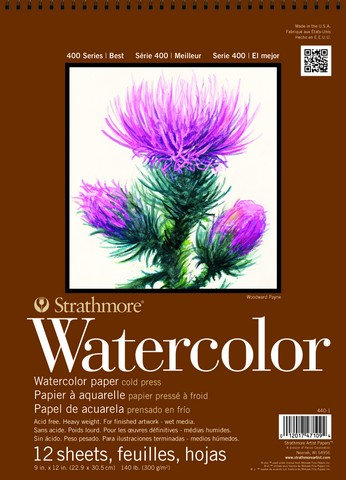 Strathmore 400 Series 9x12 Watercolor Paper