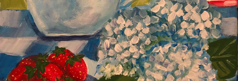 Strawberries and Flags by Erin Vazdauskas