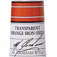 M. Graham Acrylic Transparent Orange Iron Oxide 60ml tube