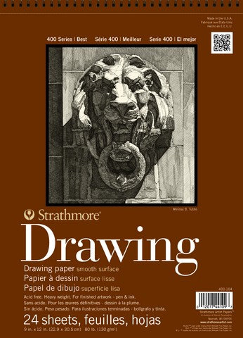 Strathmore 400 Series 9x12 Smooth Drawing