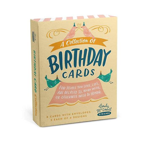 Birthday Cards, Box of 8