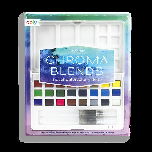 Chroma Blends™Travel Watercolor Palette