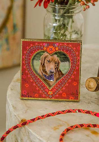 Red Floral Heart Frame
