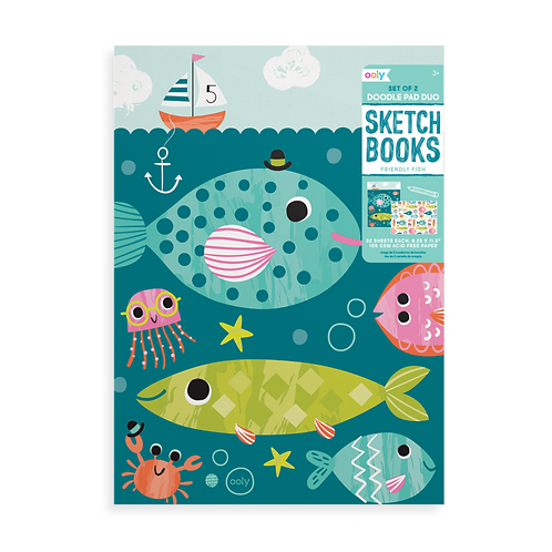 Friendly FishDoodle Pad Duo Sketchbooks