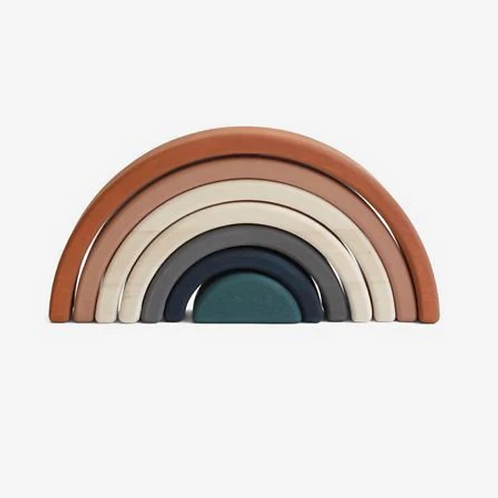 Terracotta Rainbow Stacking Toy