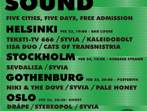 Brooklyn Sound Tour - calling Helsinki, Stockholm, Gothenburg, Oslo, Bergen...