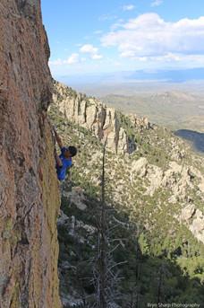 Soaked to the Bone (5.10), Boneyard, Mt. Lemmon, AZ