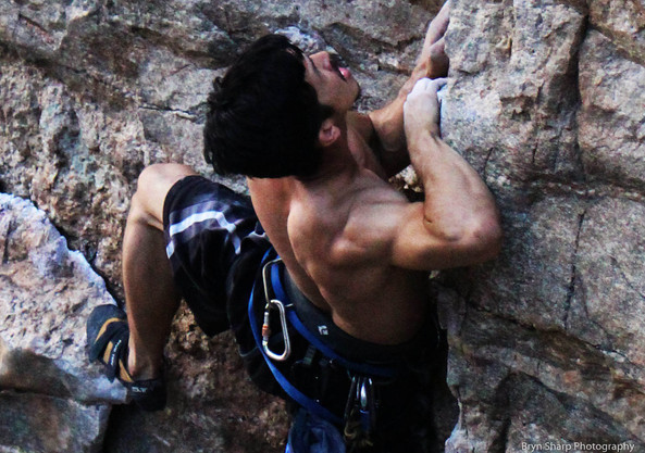 Armed Robbery (5.11a), Prison Camp, Mt. Lemmon, AZ
