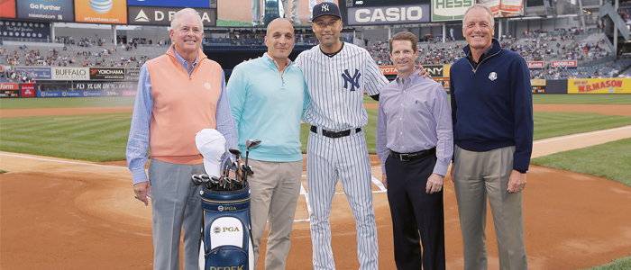 Derek Jeter with the PGA of America
