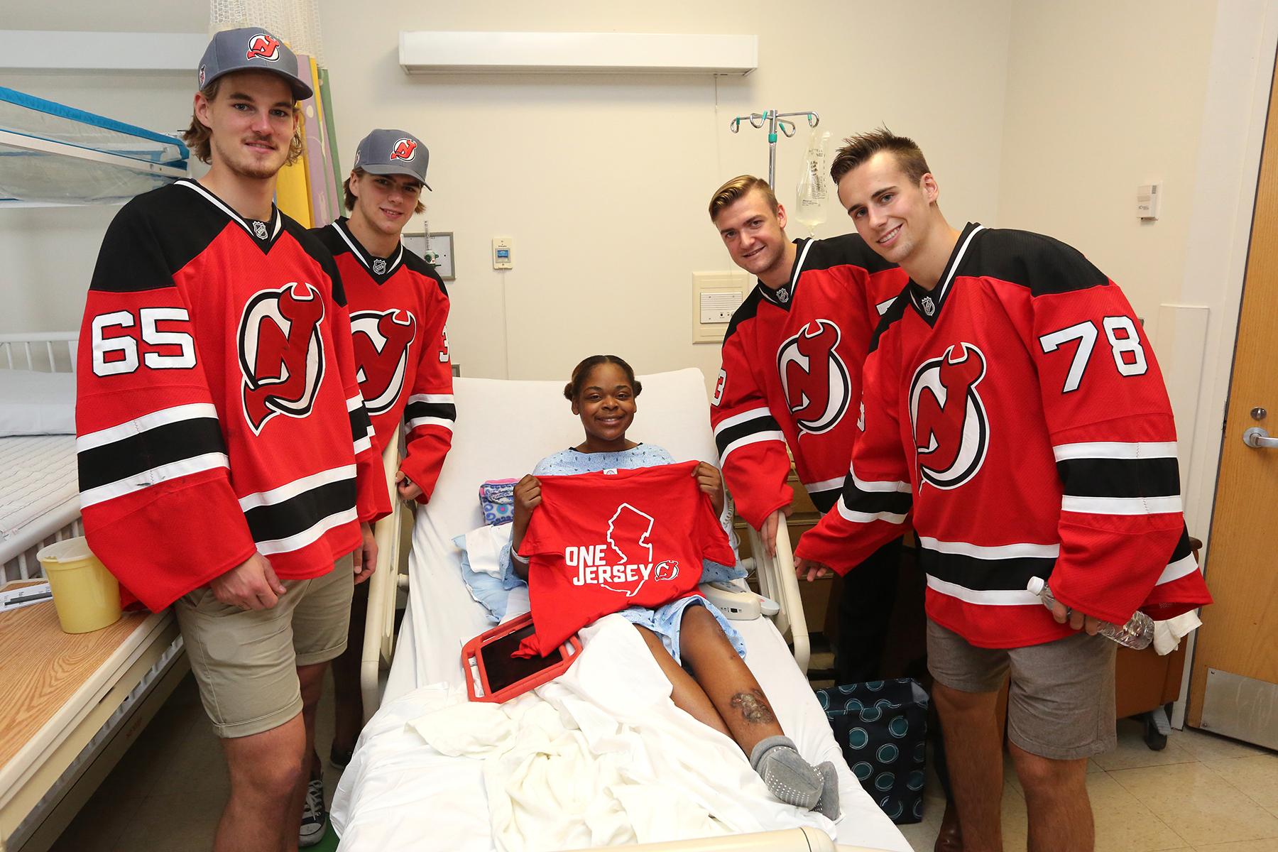 New Jersey Devils visit Hospitals