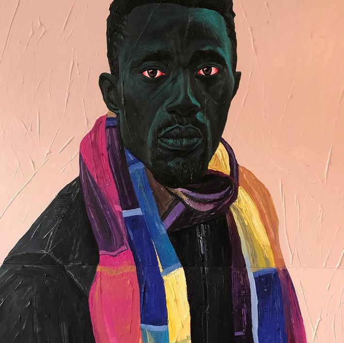 Annan Affotey explores misinterpreted identity through red eyes in his portraiture