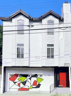 garage door mural (2021)