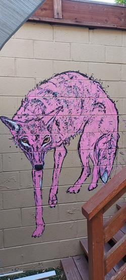 Coyote mural (2021)