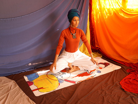 Wuufly launches yoga mat with artist Hanane Lazaar