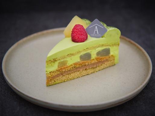 秋の新作ラ・フランスのショートケーキ