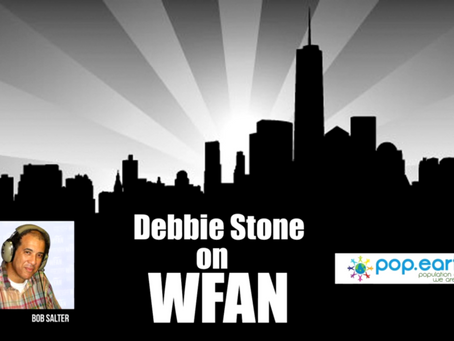 Pop. Earth Founder Debbie Stone on WFAN with Bob Salter