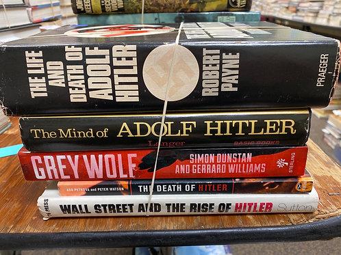 Variety of books on Adolf Hitler