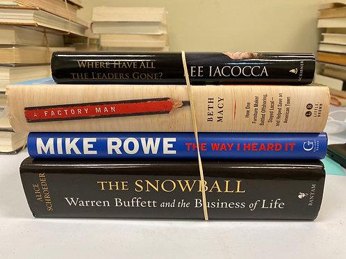 Variety of biographies/memoirs, Iaccoca, Macy, Rowe, Buffett