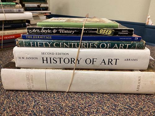 Variety of books on art