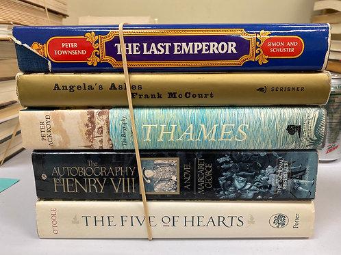 Variety of biographies George VI, Frank McCourt, Thames, Henry VIII, Henry Adams
