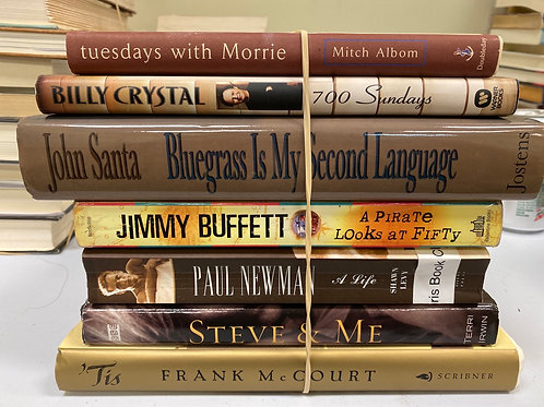 Variety of Biographies, Albom, Crystal, Santa, Buffett, Newman, Irwin, McCourt