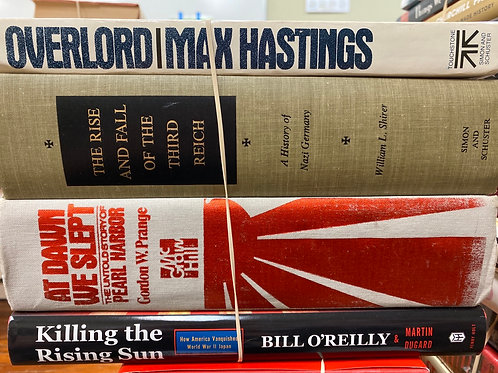 Variety of WW II books, Hastings, Third Reich, O'Reilly