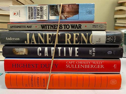 Variety of biographies, Schwartzkoph, Reno, Taliban, Sully, News