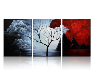 Wall Decor Landscape Painting - Santin Art- Modern Abstract Painting the Cloud Tree