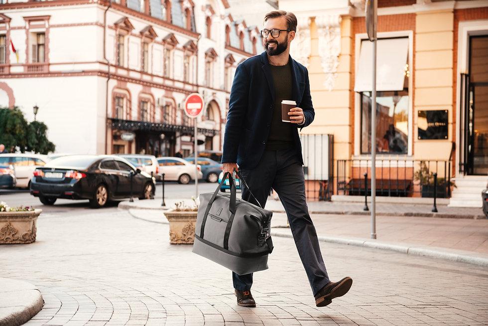 Handsome Man Drp Bttm Weekender Gray.jpg