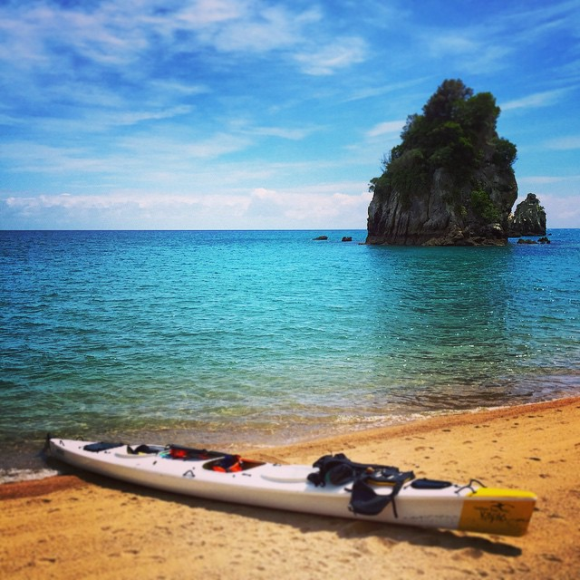 Kayak au paradis