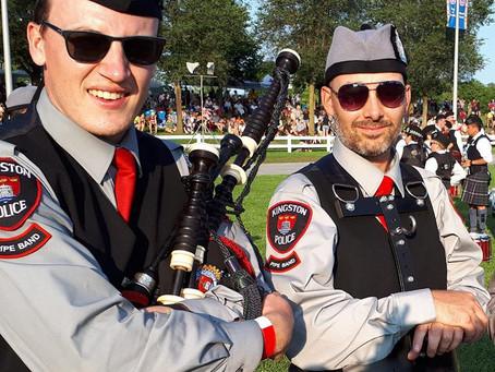 John McKay, Pipe Major of the Kingston Police Pipe Band
