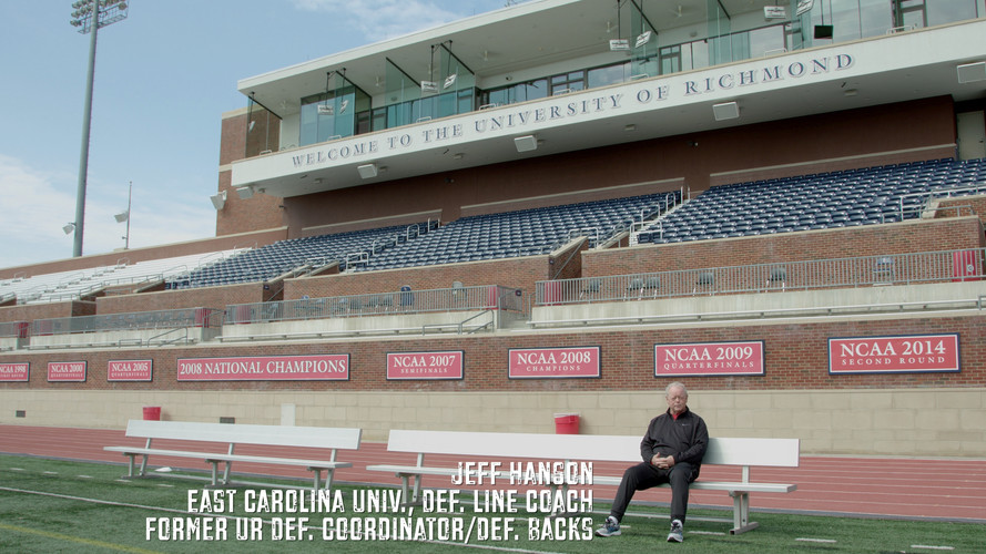 This is a very important person in my life. This is Coach Jeff Hanson. He was one of my coaches at the University of Richmond. He was tough. When you first met him you think he hates you. Why? Because he's very hard on his players. He pushed them and expects great effort all of the time. The standards he held us to were very high. We all quickly appreciated and realized the fact that he cared just as much or more than anyone. There's a saying in coaching that states the following. When a coach stops yelling at you that means he no longer cares about you. This was absolutely true when it came to coach Hanson. I can't tell you how special he is. All I can say is that every player he's ever coached feels the same. He has been a huge factor in my development as an athlete and person. We still talk and have stayed connected for the last 20 years. Thank you Coach Hanson for being so hard on me. A big thank you for sitting down with @monarchproductions and being a part of the @justakidfromfallriver film project.