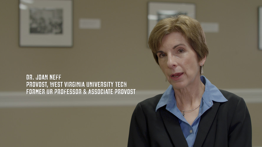 I had a great connection with Dr. Joan Neff during my time University of Richmond. I met her on my recruiting visit while touring Richmond. She had a significant influence on her students because of her great passion to teach. I'm grateful she went out of her way to help me see the potential I had on the inside. It's amazing how 20+ years later she still has a great connection with her students. Thank you Dr. Neff for caring so much about your students and being part of the Just A Kid From Fall River documentary.